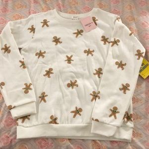 NWT Girl's Forever 21 Gingerbread Sweatshirt 13/14
